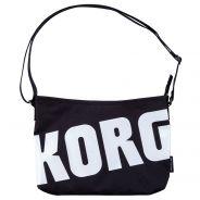 Korg SB White - Borsa Nera Logo Bianco per Accessori