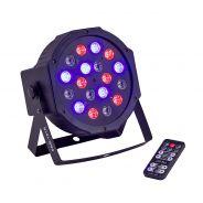 PAR a LED 18x1W con telecomando