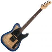 Michael Kelly Guitars Burl 50 Ultra Blu - Chitarra Elettrica Tipo Telecaster