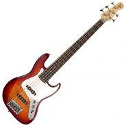 Michael Kelly Guitars Element Q5 Aged Cherryburst - Basso Elettrico 5 Corde
