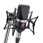 Neumann TLM 102 MT Studio Set - Microfono da Studio Nero con Sospensione