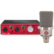 Neumann TLM102 Nickel con Interfaccia Audio Focusrite Clarett 2 Pre USB