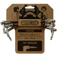 Orange Crush Kit 3 Cavi Patch Jack Angolati per Pedali 15cm