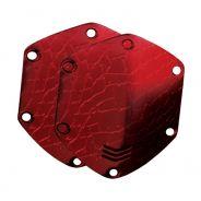 V-MODA Placca Esterna per Cuffie / Croc Skin Red