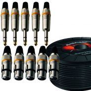 Pack Cavo Microfonico RCL 10302 D7 con Connettori