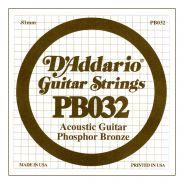 D'ADDARIO PB032 - Singola per Acustica Phosphor Bronze (032)