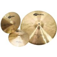 SOUNDSATION Set di Piatti per Batteria Acustica 2 Hi-Hat 14 e 1 Ride 20