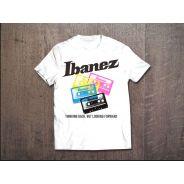 0 IBANEZ - T-Shirt Ibanez Cassette White - XXL