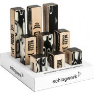 0 Schlagwerk - SK POS 1 - Espositore Shaker da tavolo con 3x SK 30, SK 35, SK 40