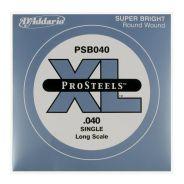 D'ADDARIO PSB040 - Singola per Basso Elettrico Pro Steels (040)