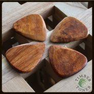 0 TIMBERTONES - Plettri in legno di Mimosa - Conf. da 4 plettri