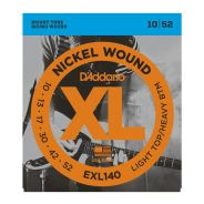 0 D'ADDARIO - EXL140 Nickel Wound, Light Top/Heavy Bottom, 10-52