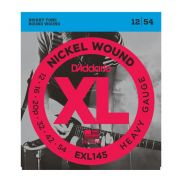 0 D'ADDARIO - EXL145 Nickel Wound, Heavy, Plain 3rd, 12-54