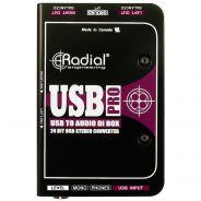 Radial USB Pro - Convertitore Audio Digitale e DI Box Stereo USB