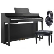 Roland HP702 Charcoal Black Home Set - Pianoforte Digitale con Panca e Cuffie