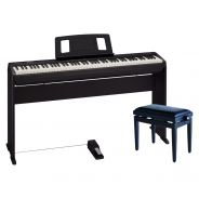 Roland FP 10 BK Pack Deluxe - Piano Digitale / Stand / Panchetta / Pedale Damper