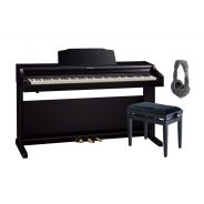 ROLAND RP501R CB Pianoforte Digitale con Mobile Contemporary Black / Cuffie Monitor Professionali / Panchetta Regolabile