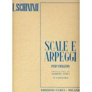 Edizioni Curci L. Schininà Scale e Arpeggi per Violino II Fascicolo