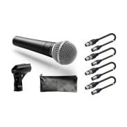 Set 4 Microfoni / 4 Cavi Audio XLR/XLR 5mt Bundle