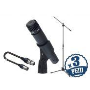 SHURE SM57 Pack per Studio Recording: Microfoni per Strumenti / Aste / Cavi x 3