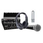 Singer Recording Pack Scheda audio usb / Microfono / Cuffie / Cavo XLR Bundle