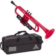 1 Soundsation Kinder SKT-10RD Tromba in Sib in Abs Rossa con Custodia Borsa