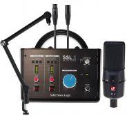 Studio Bundle per Home Recording con Interfaccia SSL 2 e Microfono sE X1A