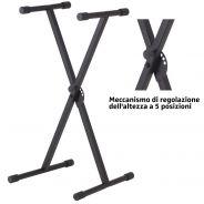 Supporto Tastiera Stand pianola regolabile a X