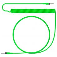 Teenage Engineering Cavo Audio a Spirale MiniJack TRS Maschio 1.20mt / Neon Green
