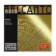 THOMASTIK - Set di Corde per Violoncello Serie Belcanto Gold, Medium 4/4