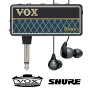 Vox Amplug 2 Bass con Shure SE112 Grigi