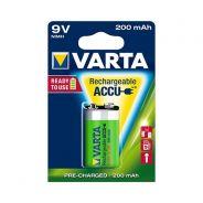 VARTA Batterien Rechargeable Accu 56722 - Rechargeable Battery - 9V Block - 200 mAh