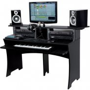 Glorious Workbench Black - Console di Lavoro Compatta
