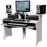 Glorious Workbench White - Console di Lavoro Compatta