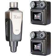 0 XVIVE U4R2 IN-EAR MONITOR Sistema monitor wireless digitale a 2 ricevitori Earmonitor