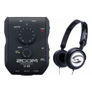 Zoom U22 Pack - Interfaccia Audio USB con Cuffie