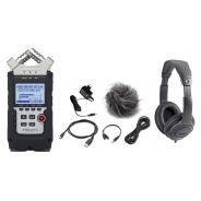 ZOOM H4n PRO Registratore Vocale Digitale Professionale / Kit Accessori / Cuffia