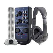 ZOOM RECORDING PACK Interfaccia Audio USB U44 / Microfono SGH-6 / Cuffie
