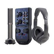 ZOOM RECORDING PACK Interfaccia Audio USB U44 / Microfono SSH-6 / Cuffie
