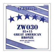 D'ADDARIO ZW030 - Singola per Acustica 85/15 Bronze (030)