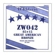 D'ADDARIO ZW042 - Singola per Acustica 85/15 Bronze (042)