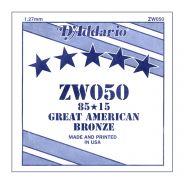 D'ADDARIO ZW050 - Singola per Acustica 85/15 Bronze (050)