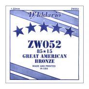 D'ADDARIO ZW052 - Singola per Acustica 85/15 Bronze (052)