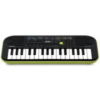 Casio SA46 Tastiera Elettronica 32 Tasti pianola verde Scolastica per Bambini