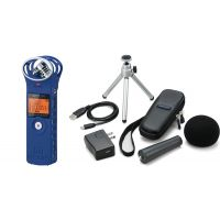 Zoom H1 BLU - Registratore Digitale / Kit Accessori / MicroSD 2GB Bundle