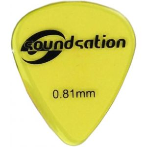 SOUNDSATION SPT-600-081 - Plettri clear nylon 0.81 (72 pezzi)
