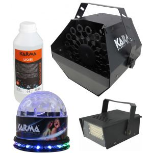 KARMA CMB 10 - KIT COMPLETO BUBBLE MACHINE + LUCI A LED