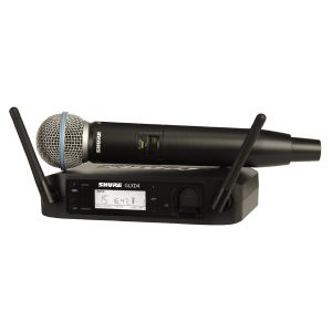 SHURE GLXD24E/B58 Beta58 Wireless Digitale con Beta 58 / SHURE SB902 Batteria Ricaricabile per GLXD/MXW2