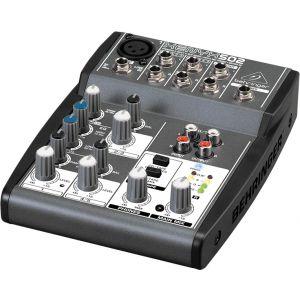 BEHRINGER XENYX 502 Mixer Audio per DJ, live, studio, karaoke