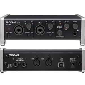 TASCAM US 2x2 USB Interfaccia Audio Midi Scheda Compatibile Iphone Ipad